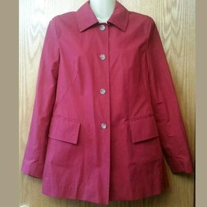 Cute Dark Red Spring Classic Jacket Unlined